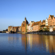 Gdansk Old Town and Motlawa River — Stock Photo
