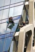 Men Cleaning Windows — Stock Photo