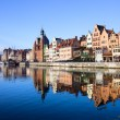 Gdansk Old Town and Motlawa River — Stock Photo #7683415