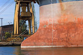 Cargo Ship Bow — Stock Photo