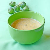Soup-puree from the Brussels cabbage and pumpkin — Stock Photo
