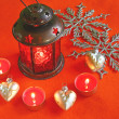 Foto Stock: Christmas lamp