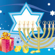 Stock Vector: Glad background to the Jewish holiday Hanukkah