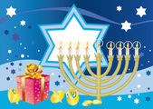 Glad background to the Jewish holiday Hanukkah — Stock Vector