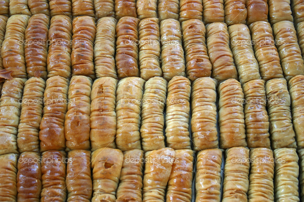 A tray of Baklava at a streetfair — Stock Photo #7947509