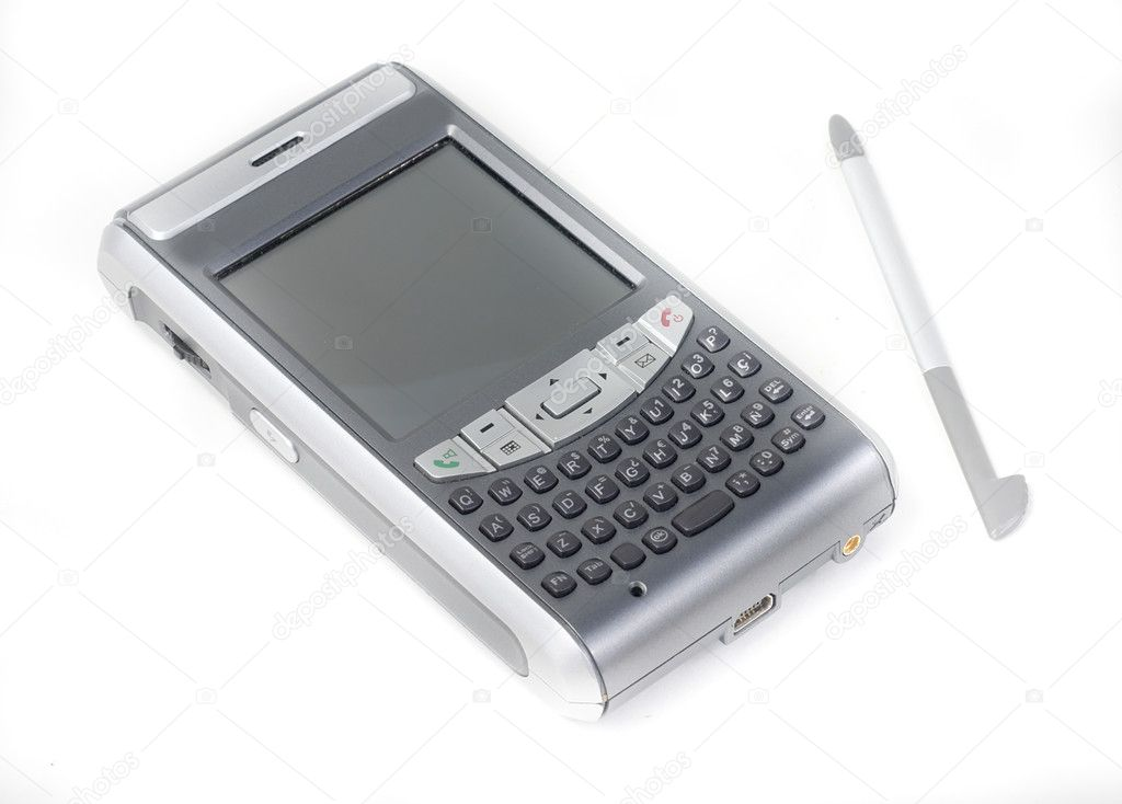 Business cell phone (PDA) on a white background  Stock Photo #7949614