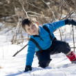 Child on the snow — Stock Photo