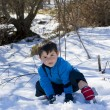 Stock Photo: Child on the snow