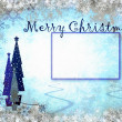 Stock Photo: Frame from snowflakes with space for text