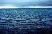 шаблон льда на озере — Стоковое фото