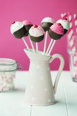 Cupcake cake pops — Stock Photo