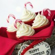 Christmas cupcakes — Stock Photo