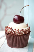 Black forest cupcake — Stock Photo