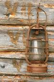 The old kerosene lamp — Stock Photo