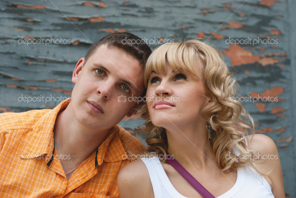 Couple on grey background  Stock Photo #7547382