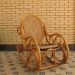 Wooden rocking chair — Stock fotografie