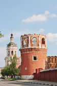 Red brick tower — Stok fotoğraf