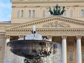 大戏院前的喷泉 — 图库照片