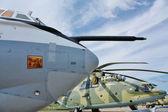Nez de l'avion militaire — Photo