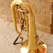 Shine of the copper tuba — Stock Photo