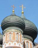 Black domes of the orthodox church — Stock Photo