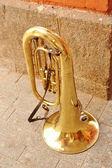 Brillo de la tuba de cobre — Foto de Stock