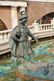 "Sculpture on a Russian fairy tale ""princess frog"" — Stock Photo"