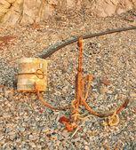 海洋船锚和浮标 — 图库照片