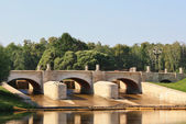 Tsaritsynso 大坝 (想通桥) — 图库照片