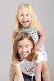 Cute little girls — Stock Photo