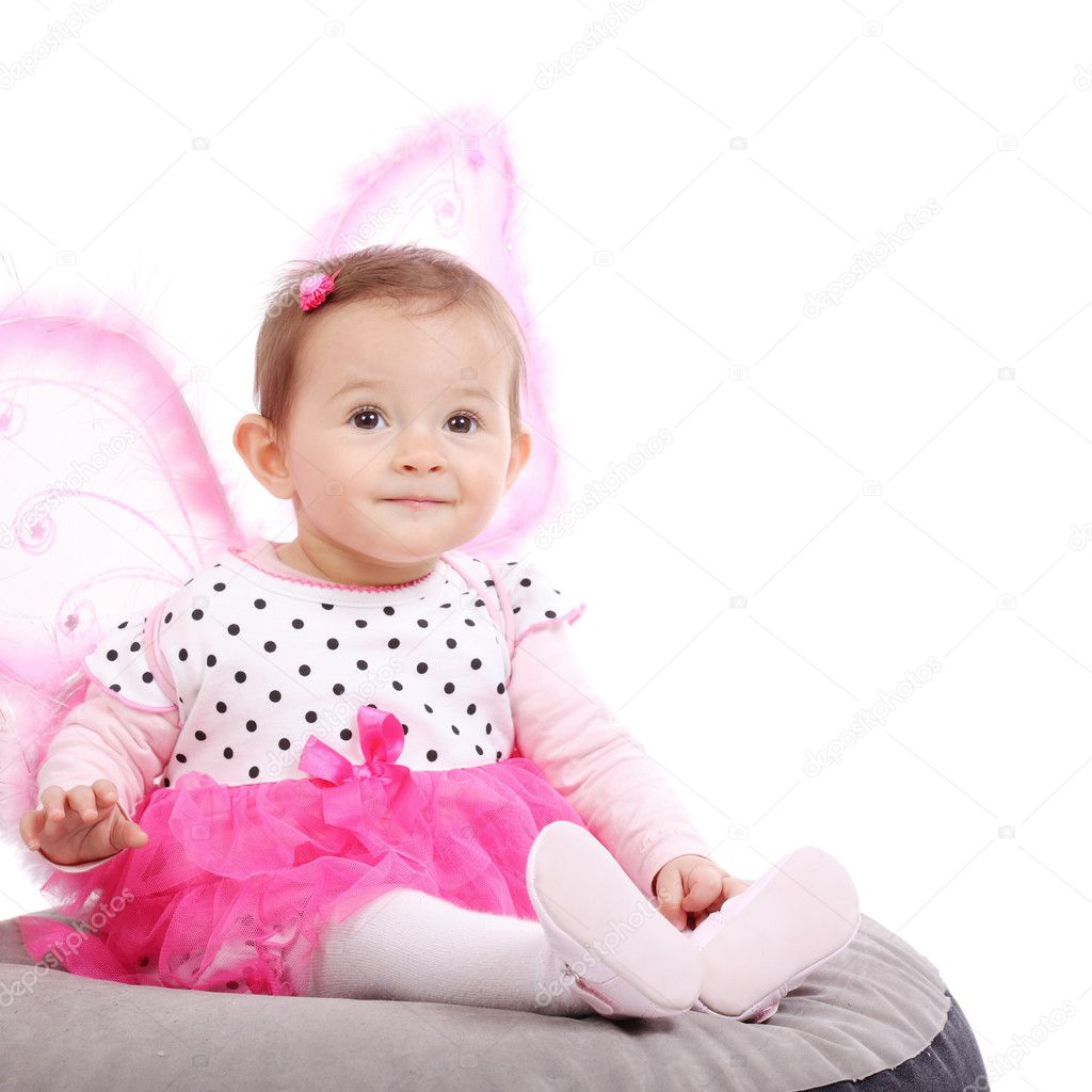 Cute Little Baby Girl Stock Photo Kokimk 6958962