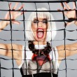Fashion girl screaming - Foto Stock