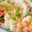 Catering table set service — Stock Photo