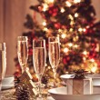 Christmas table set — Stock Photo #6949314