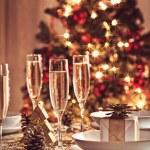 Christmas table set — Stock Photo