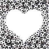 Bolas de futebol — Foto Stock