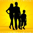 Silhouettes Of Parents With Children — Stock Vector #6936698