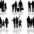 Royalty-Free Stock Vector Image: Silhouette of parents and children