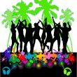 Royalty-Free Stock Vector Image: The event at the beach-colored background