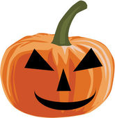 Pumpkin - halloween, vector illustration — Vector de stock