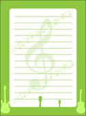 Musical background - Stationery — Stock Vector