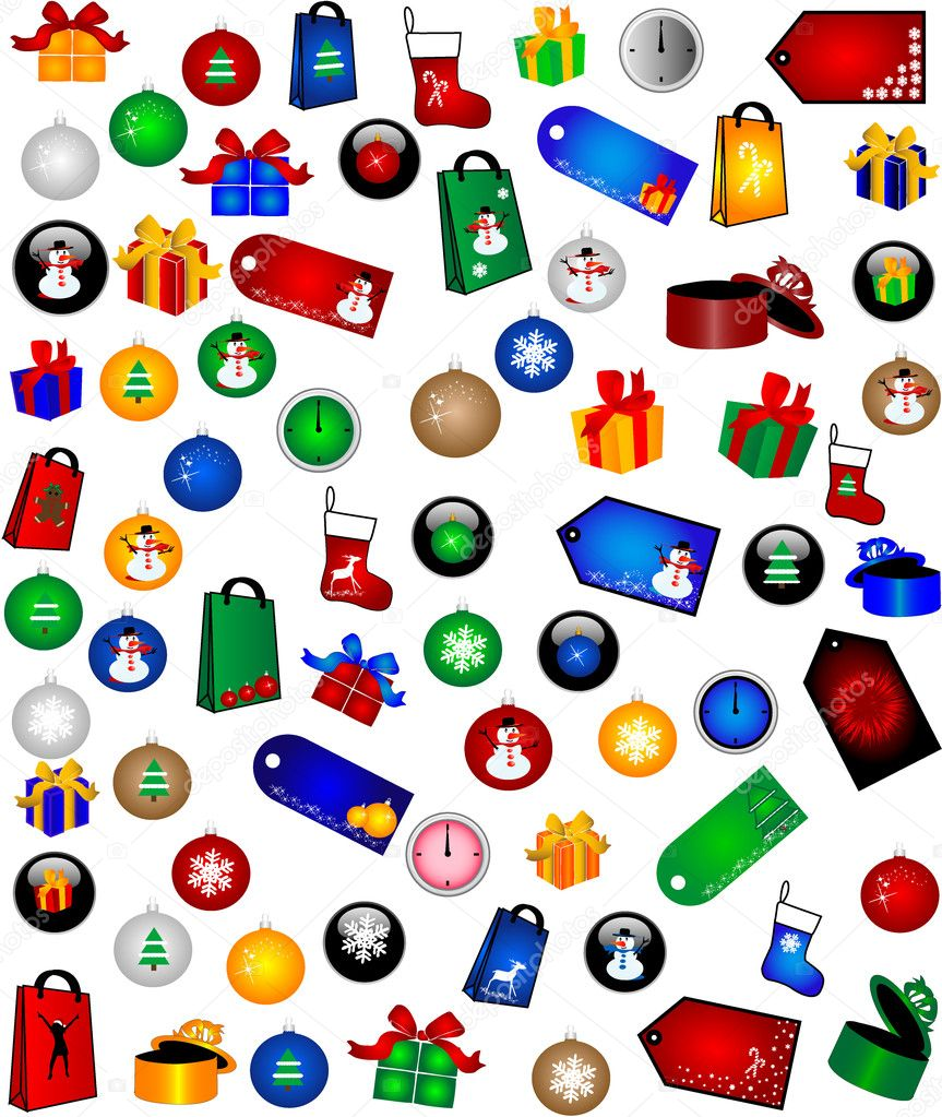 Christmas Decorations -big collection   Stock Vector #6936639
