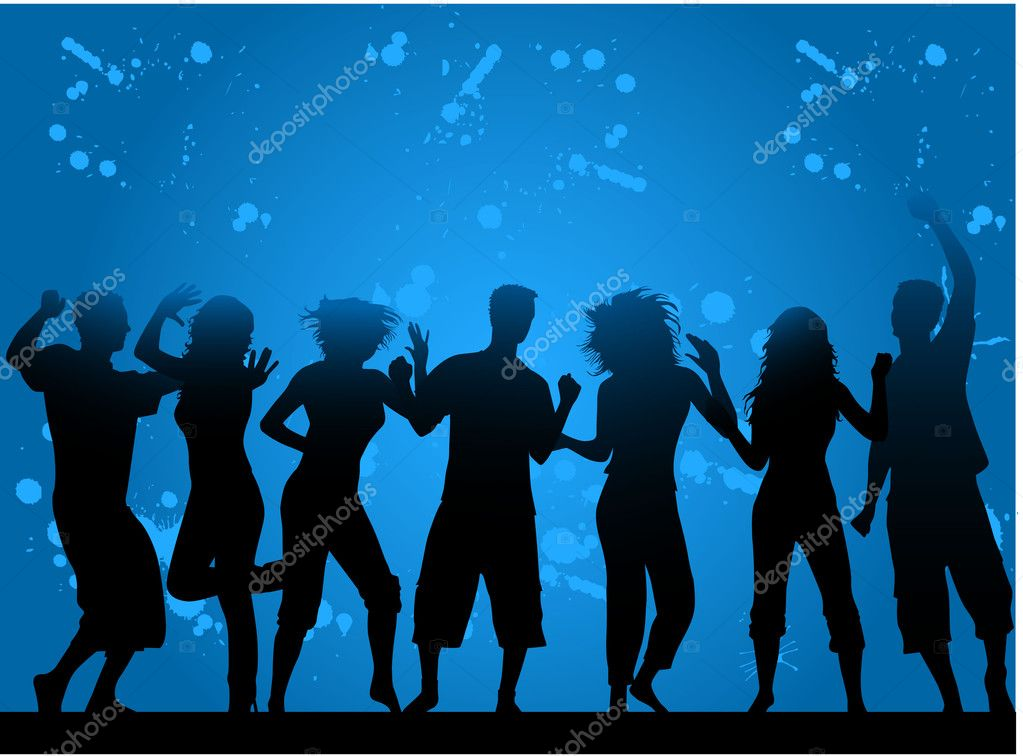 Party- grunge background  — Stock Vector #6936647