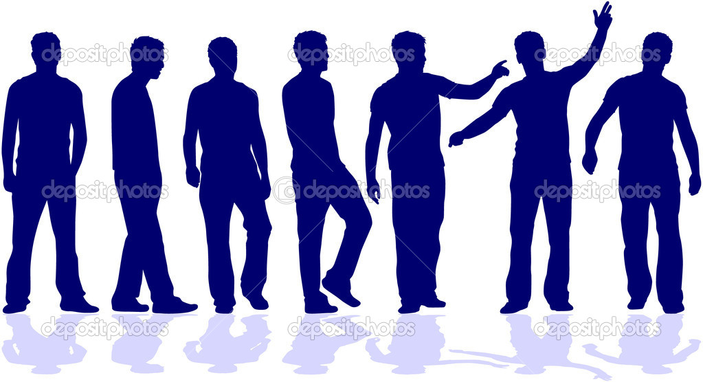 Group of men  Stock Vector #6936659