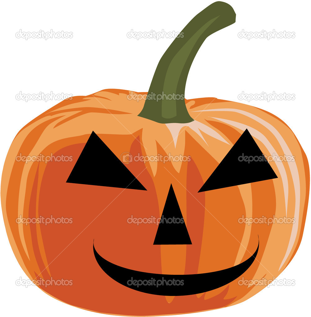Pumpkin - halloween, vector illustration  Stock Vector #6936690