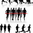 Runners — Stock Vector