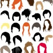 Stock Vector: Hair - dress