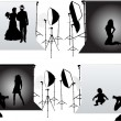 Studio Photography - photo sessions — Imagen vectorial
