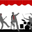 Stock Vector: Playing Concert