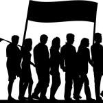 Demonstration - black silhouette — Stock Vector #7715057